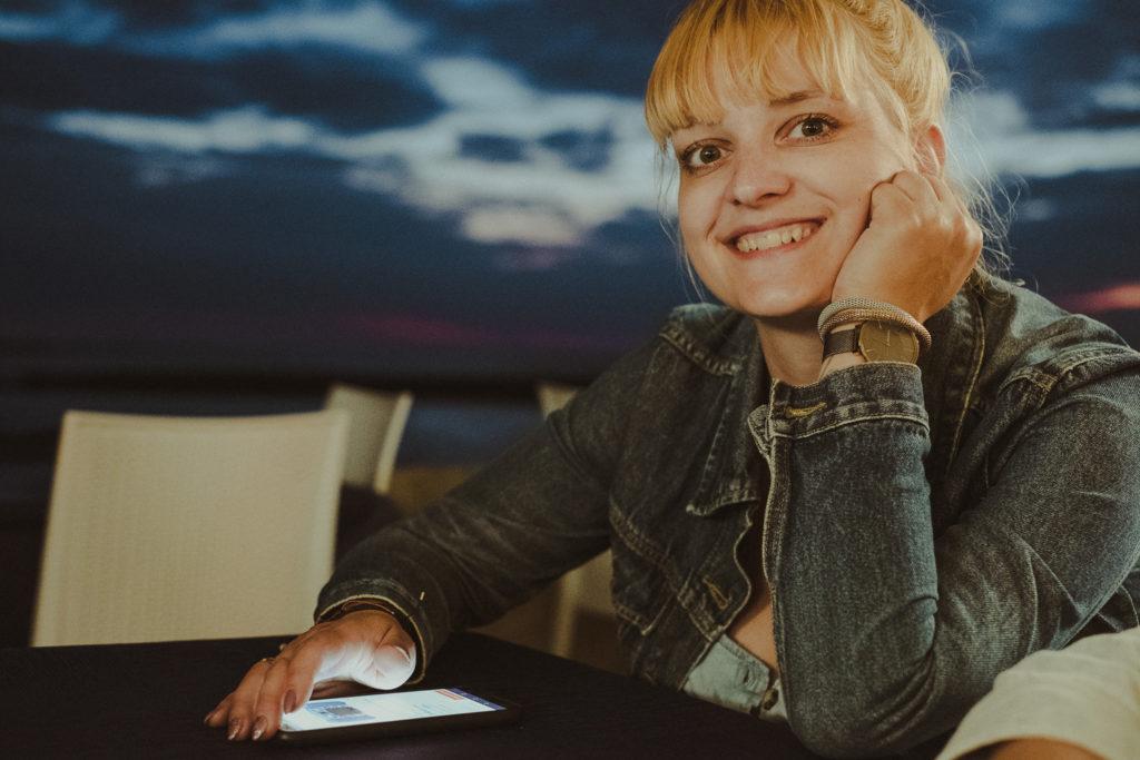 uśmiechnięta Kasia.