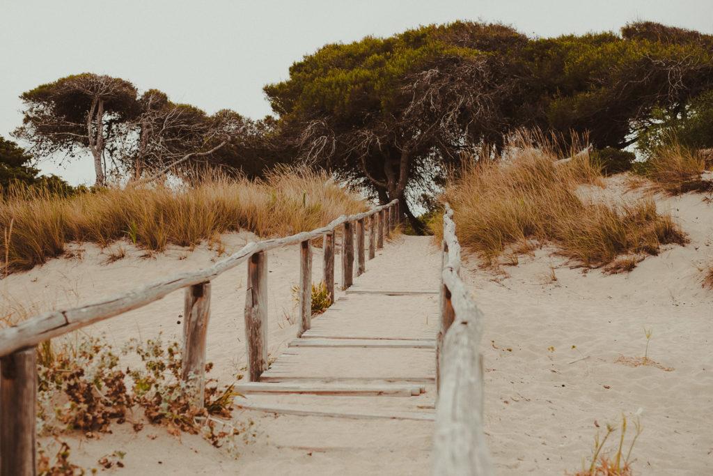schody na plaży.
