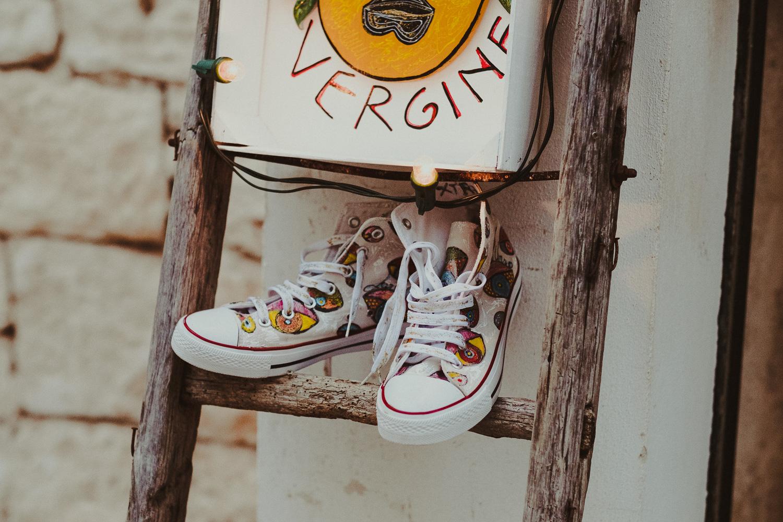 buty na drabinie