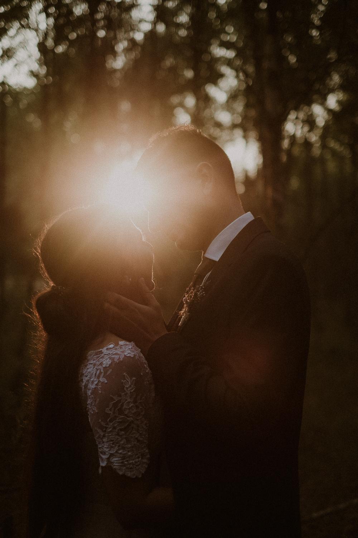 Sylwia i Paweł. namiętny pocałunek.